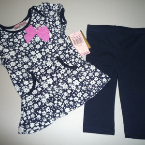 Juicy Couture Baby Girl 2 PC Leggings Set
